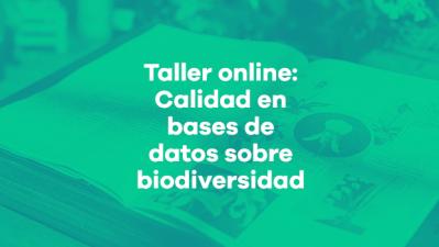 Calidad en bases de datos de biodiversidad 2019
