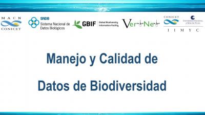 Manejo y Calidad de Datos de Biodiversidad - Mar del Plata, Argentina - 2018