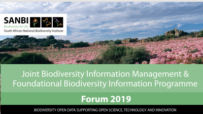 SANBI-GBIF Biodiversity Data Management Course 2019 (Forum)